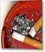Cigarette Butts Metal Print