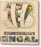 Cincinnati Bengals Logo Vintage Metal Print