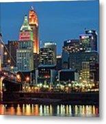 Cincinnati Blue Hour Metal Print