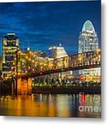 Cincinnati Downtown Metal Print
