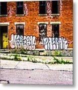 Cincinnati Glencoe Auburn Place Graffiti Photo Metal Print