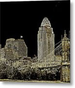 The Queen City Cincinnati Ohio Metal Print