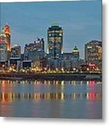 Cincinnati On The Riverfront Metal Print