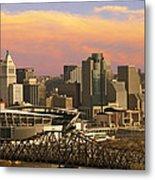Cincinnati Over The Bridge Metal Print