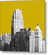 Cincinnati Skyline 2 - Gold Metal Print