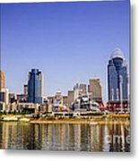 Cincinnati Skyline Riverfront Downtown Office Buildings Metal Print