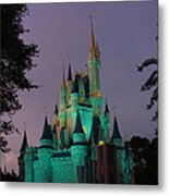 Cinderella Castle At Night  Metal Print