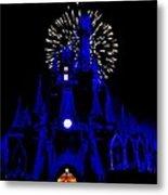 Cinderella Castle Fireworks Metal Print