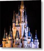 Cinderella's Castle In Magic Kingdom Metal Print by Adam Romanowicz