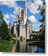 Cinderellas  Castle Metal Print