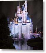 Cinderella's Castle Reflection Metal Print