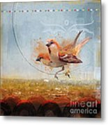Cinnamon Sparrows Metal Print