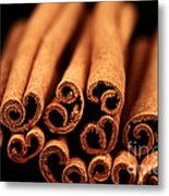Cinnamon Sticks Metal Print