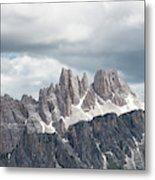 Cinque Torri Area In The Dolomites Metal Print