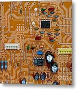 Circiruit Board Macro Metal Print