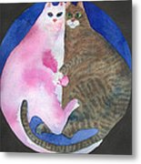 Circle Cats Metal Print