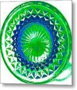 Circle Green Metal Print