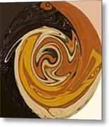 Circle Of Browns Metal Print