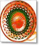 Circle Orange Metal Print