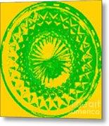 Circle Yellow Metal Print