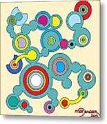 Circles 3 Metal Print