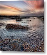 Circles In A Square Metal Print by Mark Leader