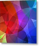 Circles In Colorful Abstract Metal Print
