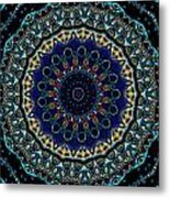 Circles Of Blue Metal Print