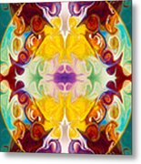 Circling The Unknown Abstract Healing Artwork By Omaste Witkowsk Metal Print