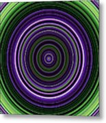 Circular Concentric Stripes In Multiple Colors Metal Print