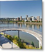 Circular Walkway On Portland Eastbank Esplanade Metal Print