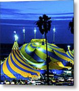 Circus Tent Swirls Of Blue Yellow Original Fine Art Photography Print  Metal Print