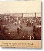 Circus Train Wreck, 1896 Metal Print