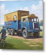 Circus Truck Metal Print by Mike  Jeffries