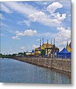 Cirque De Soleil Tents Near Quays Along Saint Lawrence River In Montreal-qc Metal Print
