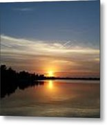 Cirrus Sunset Metal Print