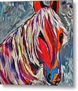 Cisco Abstract Horse  Metal Print