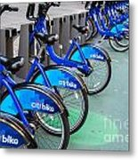 Citibike Rentals Nyc Metal Print