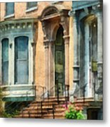 Cities - Albany Ny Brownstone Metal Print