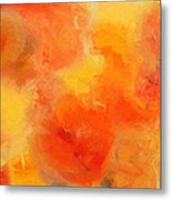 Citrus Passion - Abstract - Digital Painting Metal Print