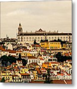 City And Cathedral Lisbon Portugal Metal Print