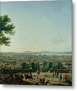 City And Port Of Toulon, 1756 Oil On Canvas Metal Print
