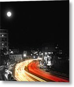 City And The Moon Metal Print