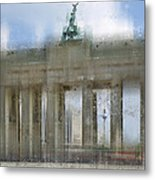 City-art Berlin Brandenburg Gate Metal Print