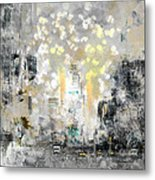 City-art Manhattan Sunflower Metal Print