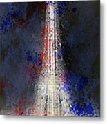 City-art Paris Eiffel Tower In National Colours Metal Print by Melanie Viola