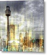 City-art Sydney Rainfall Metal Print