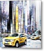 City-art Times Square II Metal Print by Melanie Viola