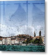 City-art Venice Panoramic Metal Print