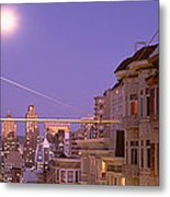 City At Night, San Francisco Metal Print
